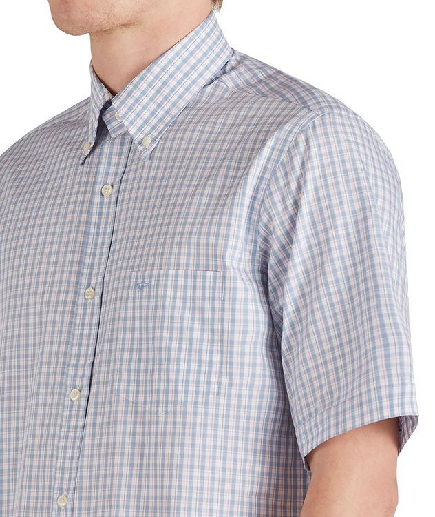 Short-Sleeve Checked Cotton Shirt picture 4