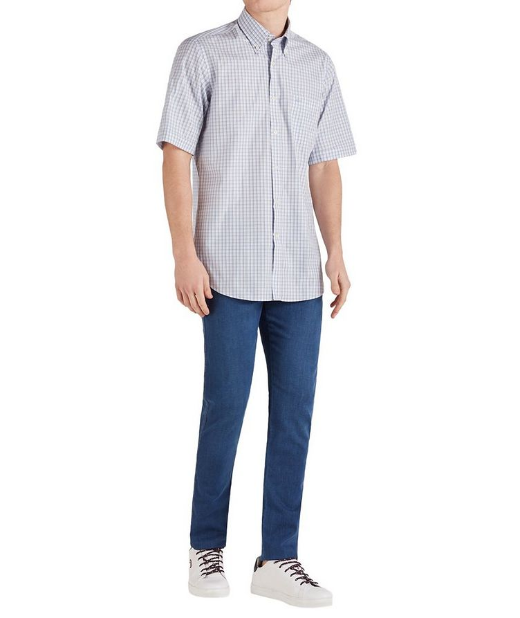 Short-Sleeve Checked Cotton Shirt image 4