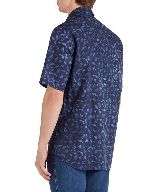 Short-Sleeve Printed Cotton Shirt picture 2