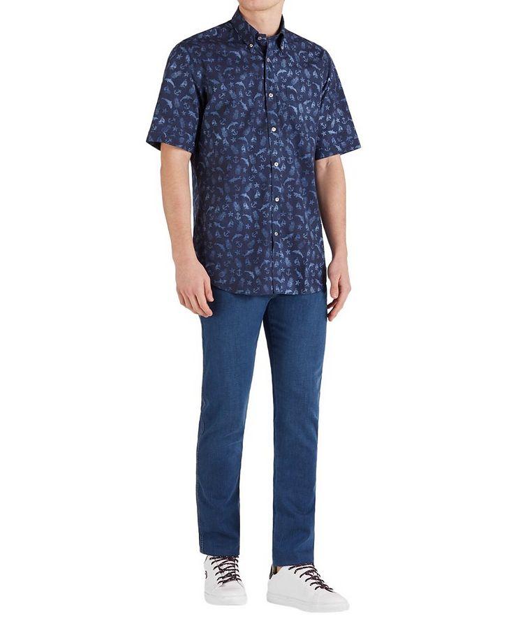 Short-Sleeve Printed Cotton Shirt image 4