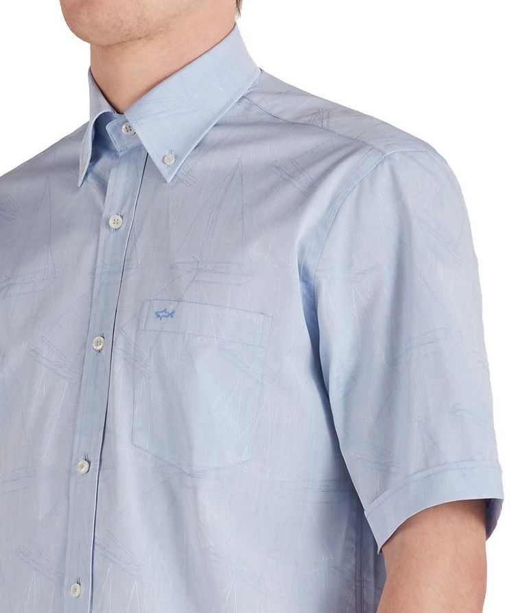 Short-Sleeve Printed Cotton Shirt image 3
