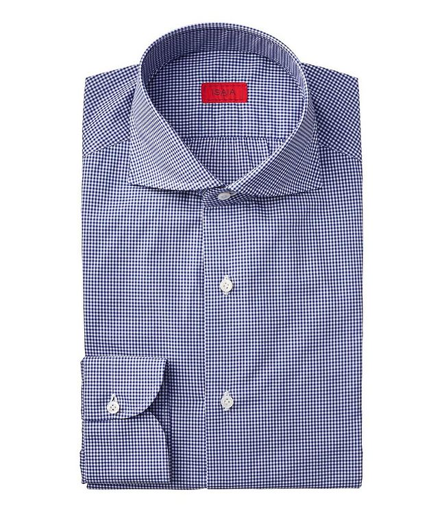 Contemporary Fit Gingham Checked Dress Shirt picture 1