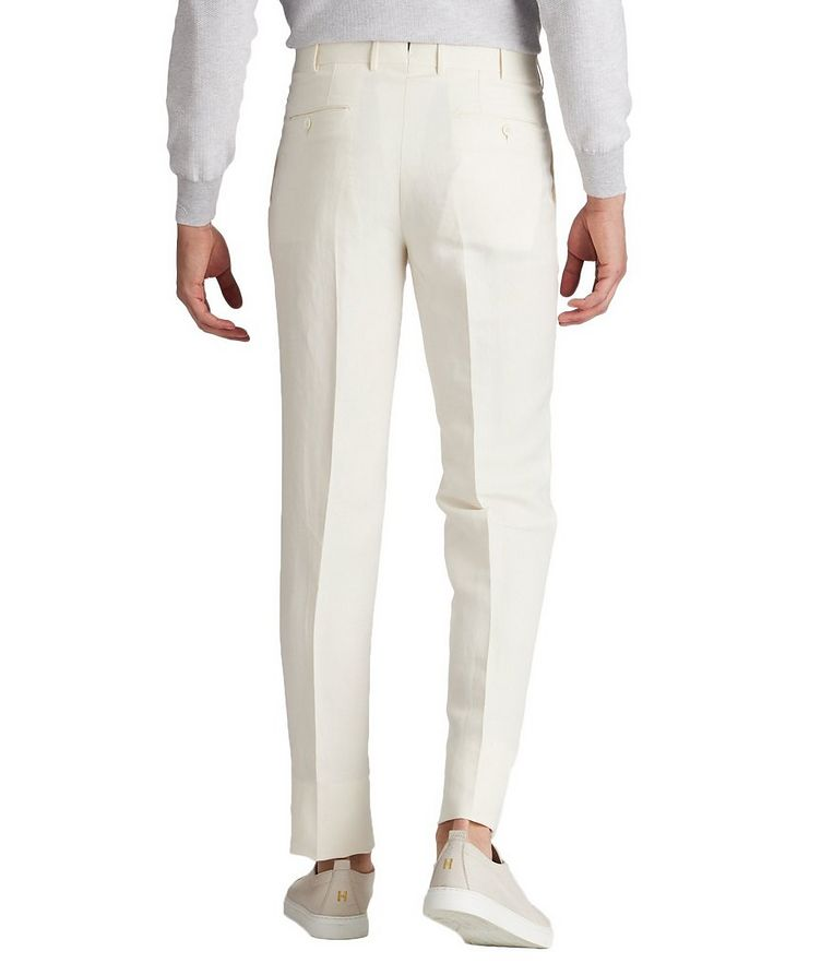 Slim Fit Linen-Silk Dress Pants image 1