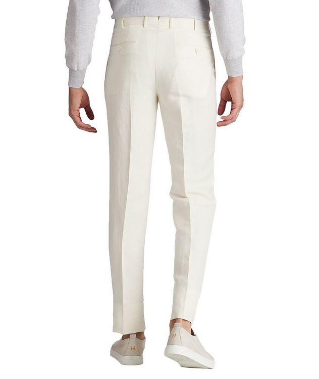 Slim Fit Linen-Silk Dress Pants picture 2