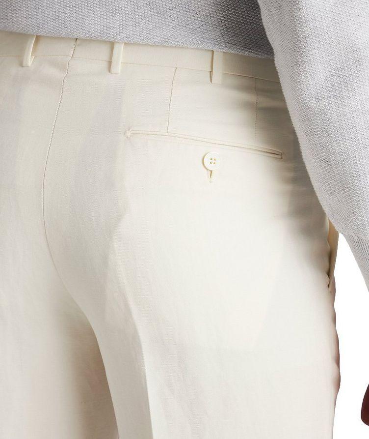Slim Fit Linen-Silk Dress Pants image 2