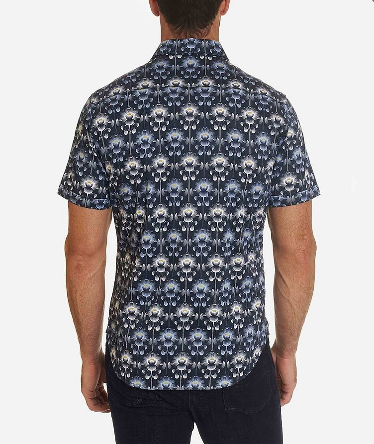 Short-Sleeve Floral-Printed Stretch-Cotton Shirt image 1