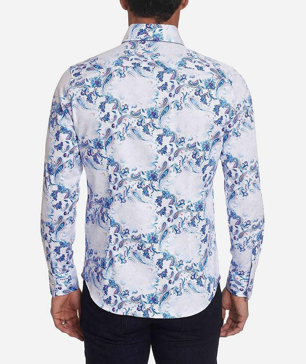 Long-Sleeve Paisley-Printed Stretch-Cotton Shirt picture 2