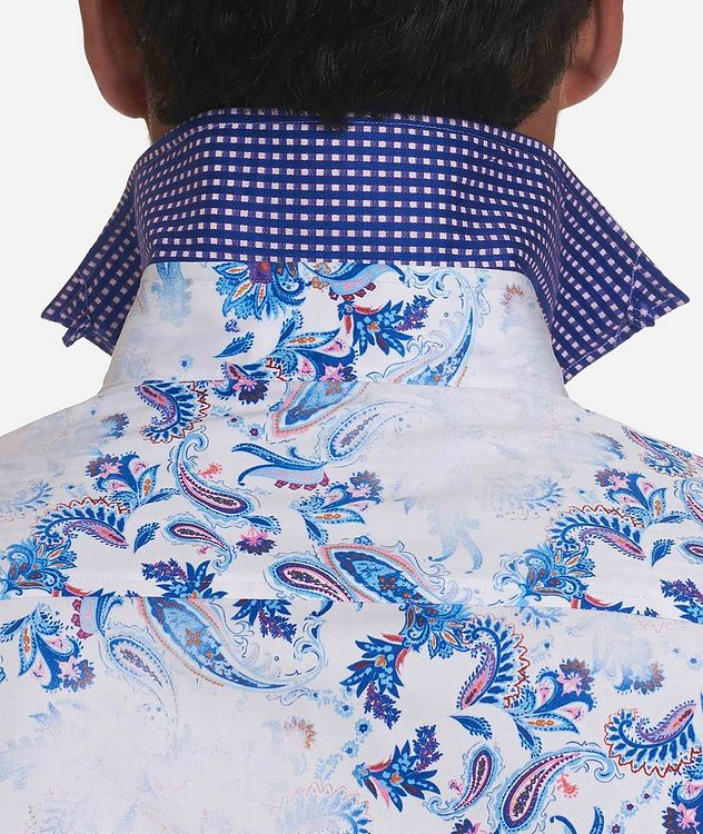 Long-Sleeve Paisley-Printed Stretch-Cotton Shirt picture 3