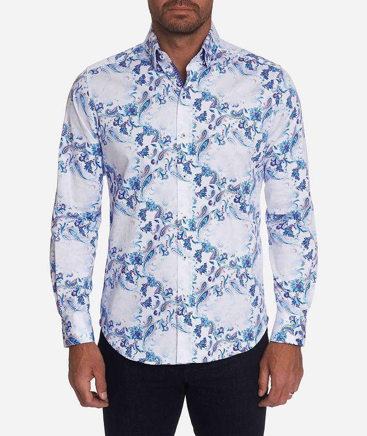 Long-Sleeve Paisley-Printed Stretch-Cotton Shirt image 0
