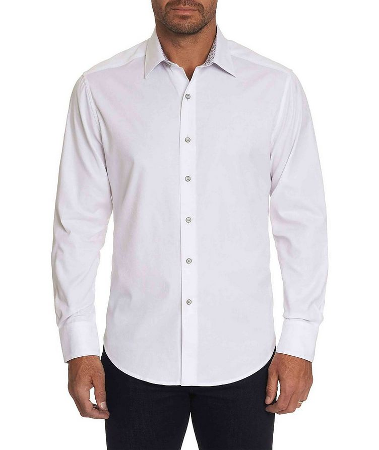 Jacquard Stretch-Cotton Shirt image 0
