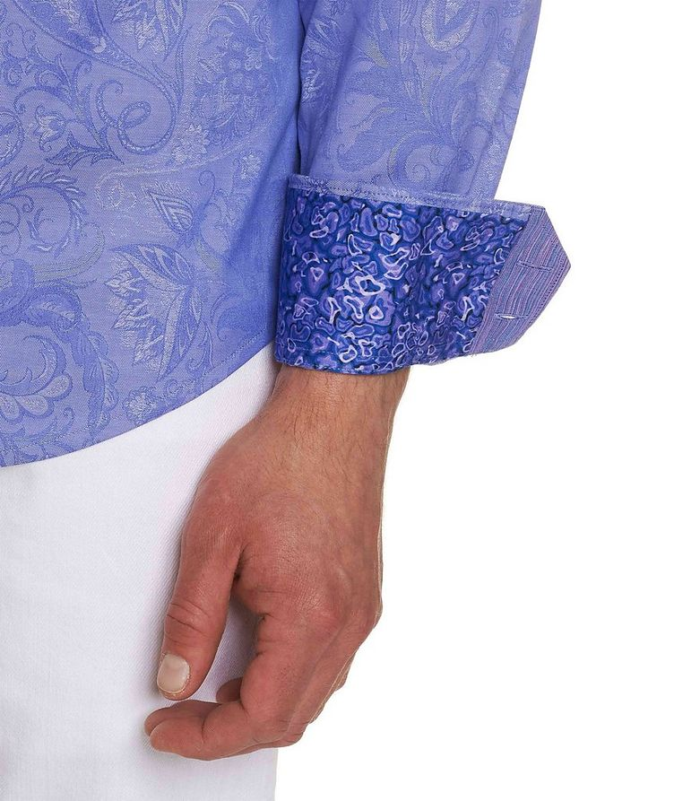 Jacquard Stretch-Cotton Shirt image 3