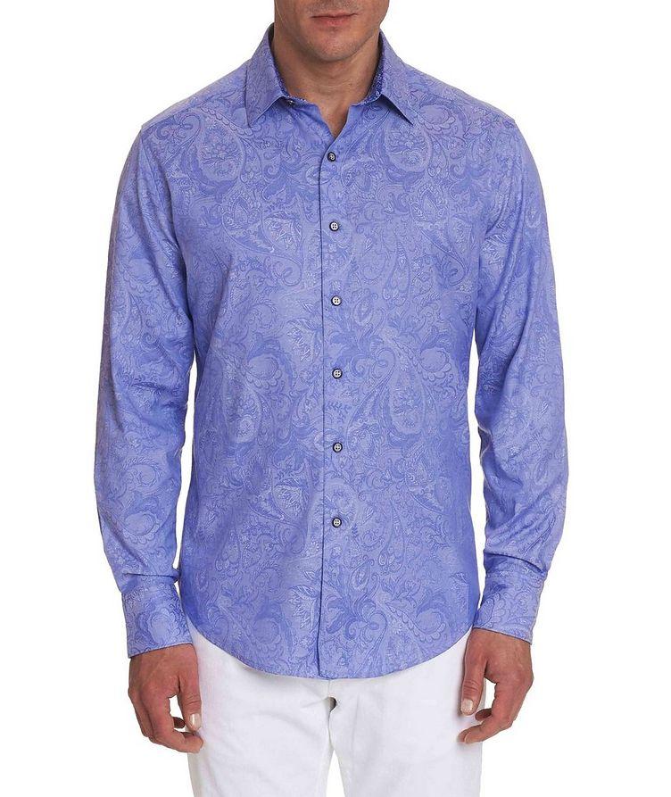 Jacquard Stretch-Cotton Shirt image 0