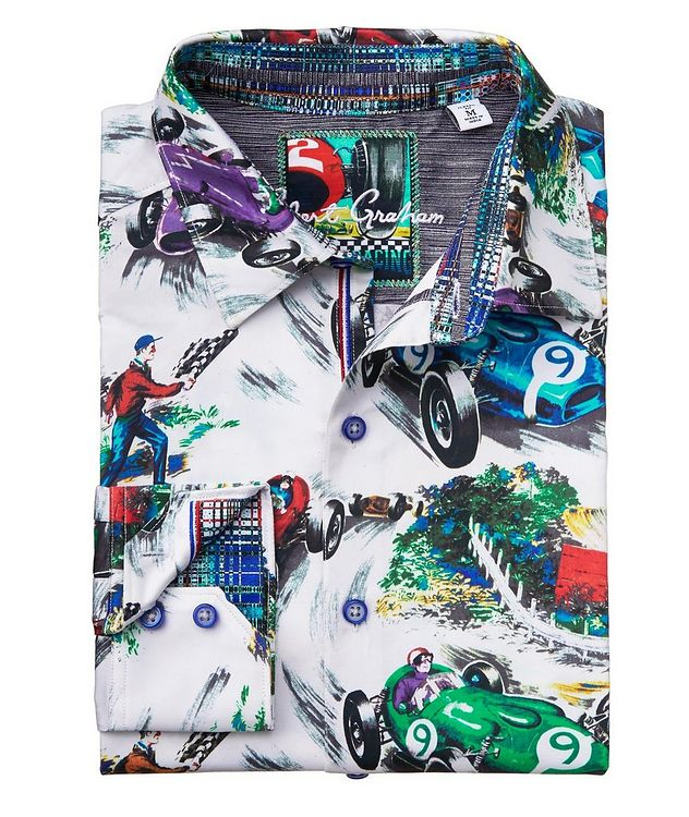 Race Car-Printed Stretch-Cotton Shirt picture 2
