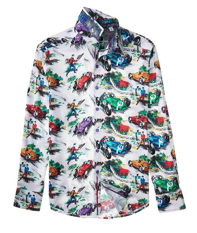 Race Car-Printed Stretch-Cotton Shirt picture 3