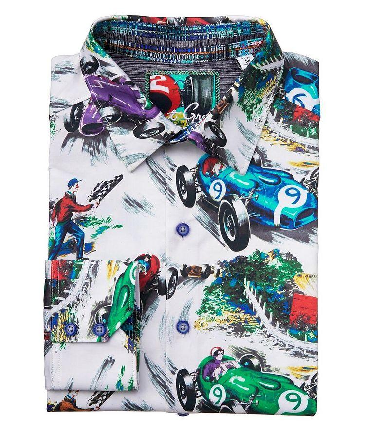 Race Car-Printed Stretch-Cotton Shirt image 0