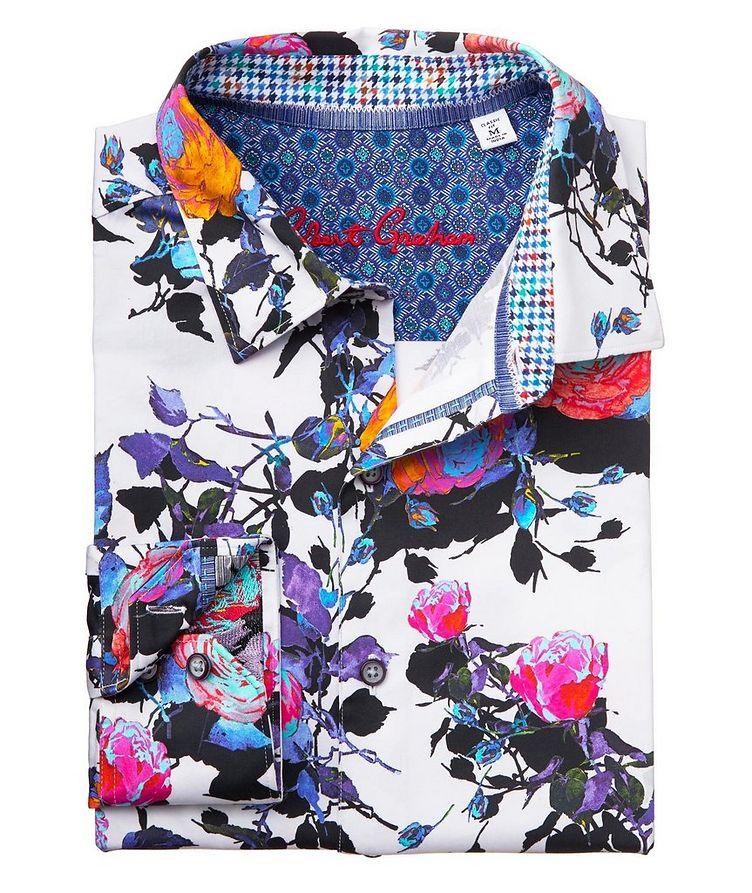 Botanical-Printed Stretch-Cotton Shirt image 1
