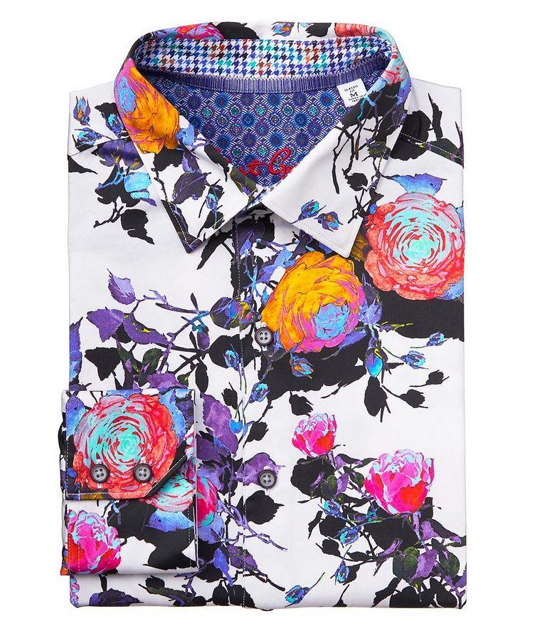 Botanical-Printed Stretch-Cotton Shirt image 0