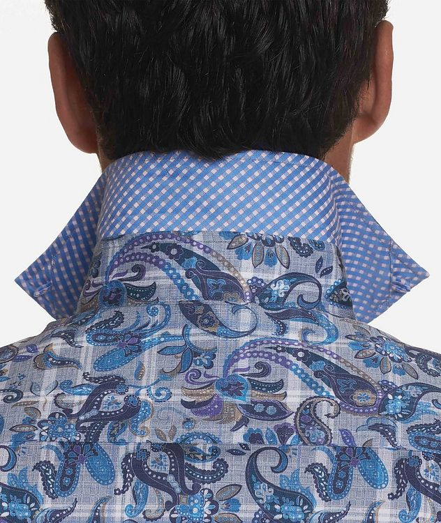 Short-Sleeve Floral-Printed Stretch-Cotton Shirt picture 3