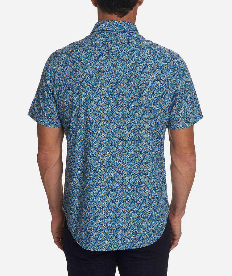 Short-Sleeve Lemon-Printed Stretch-Cotton Shirt image 1