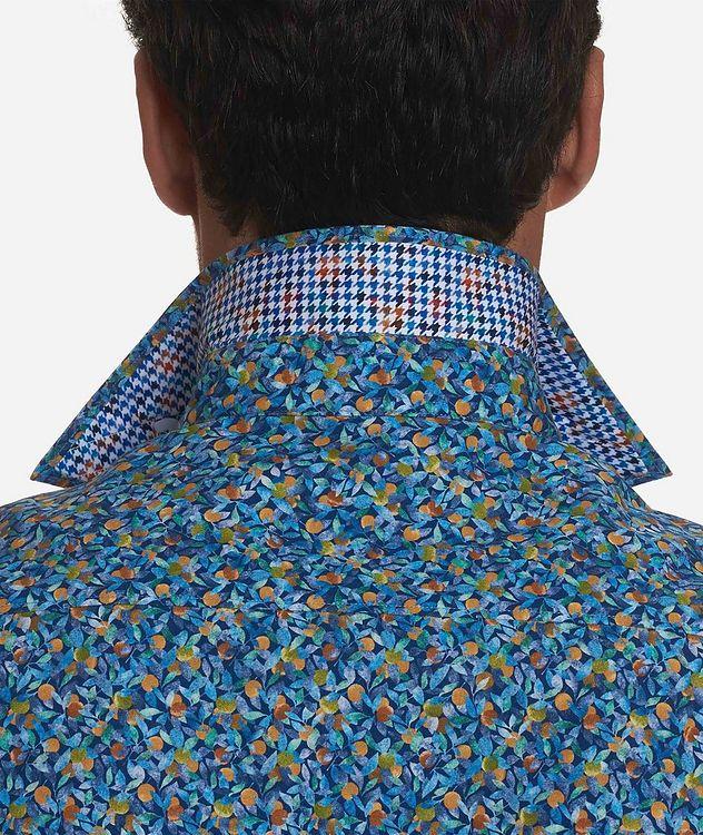 Short-Sleeve Lemon-Printed Stretch-Cotton Shirt picture 3