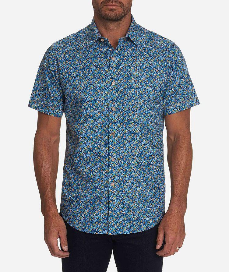 Short-Sleeve Lemon-Printed Stretch-Cotton Shirt image 0