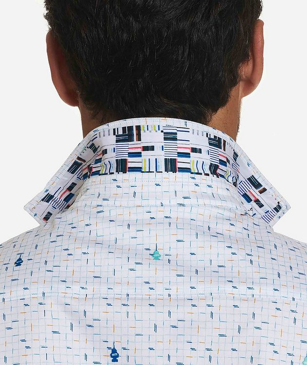 Short-Sleeve Checked Stretch-Cotton Shirt picture 3