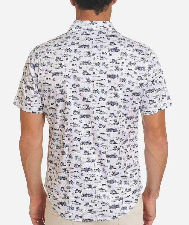 Short-Sleeve Toile de Jouy Stretch-Cotton Shirt picture 2
