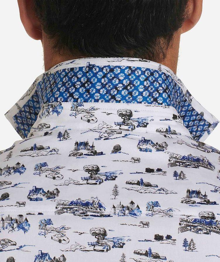 Short-Sleeve Toile de Jouy Stretch-Cotton Shirt image 3