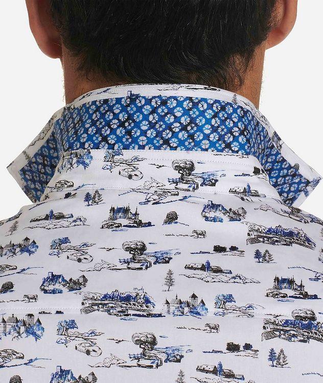 Short-Sleeve Toile de Jouy Stretch-Cotton Shirt picture 4