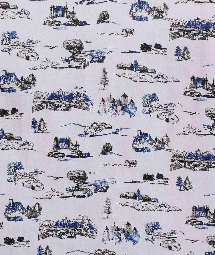 Short-Sleeve Toile de Jouy Stretch-Cotton Shirt image 4