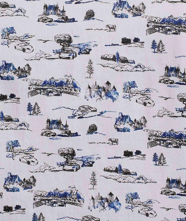 Short-Sleeve Toile de Jouy Stretch-Cotton Shirt picture 5