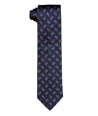 Eton Paisley-Printed Silk Tie