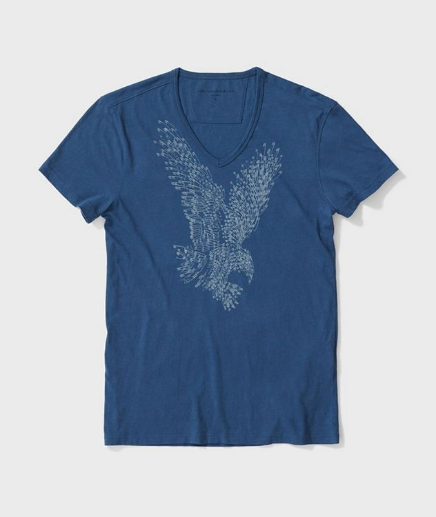 Printed V-Neck T-Shirt picture 1