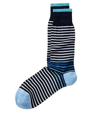 Bugatchi Striped Stretch-Cotton Socks