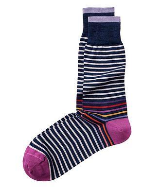Bugatchi Striped Stretch-Cotton Socks