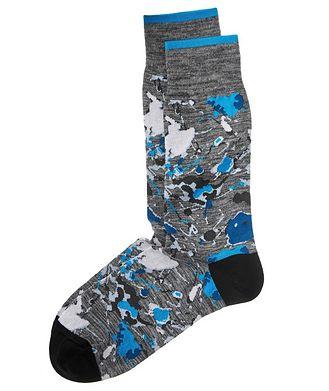 Bugatchi Printed Stretch-Cotton Socks
