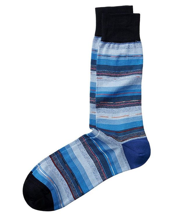 Striped Stretch-Cotton Socks picture 1