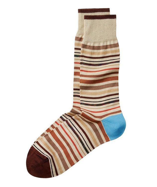 Striped Stretch-Cotton Socks picture 1