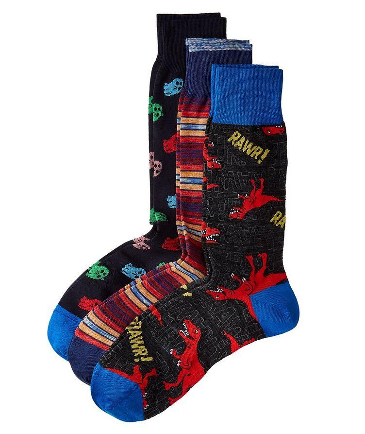 3-Pack Printed Socks image 0