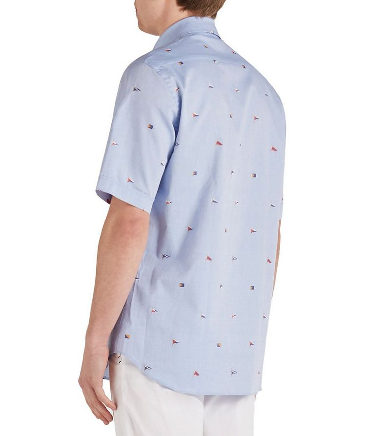 Short-Sleeve Printed Cotton Shirt image 1
