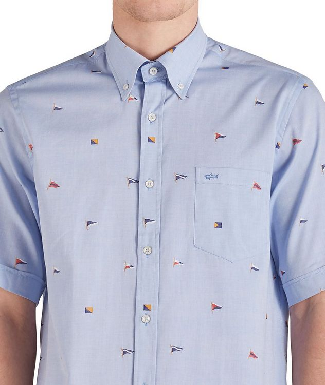 Short-Sleeve Printed Cotton Shirt picture 3
