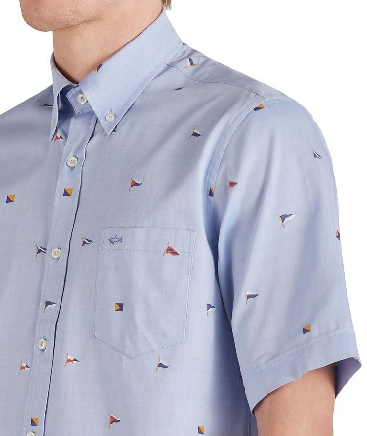 Short-Sleeve Printed Cotton Shirt image 3