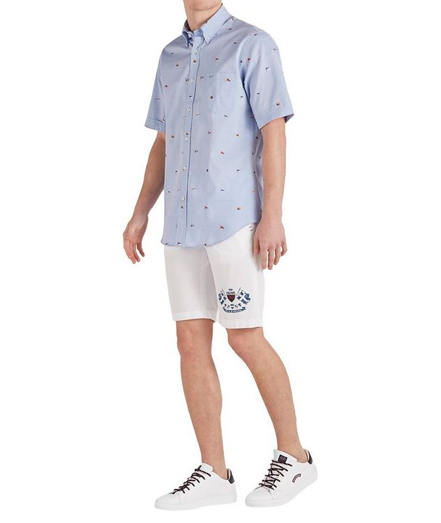 Short-Sleeve Printed Cotton Shirt picture 5