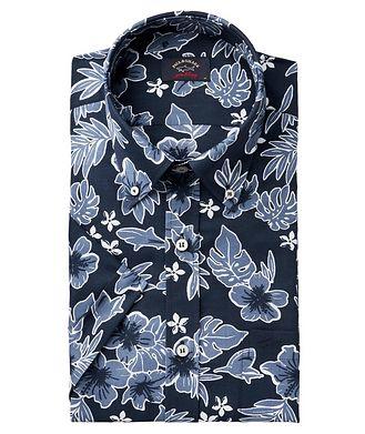 Paul & Shark Chemise en coton à motif floral et à manches courtes