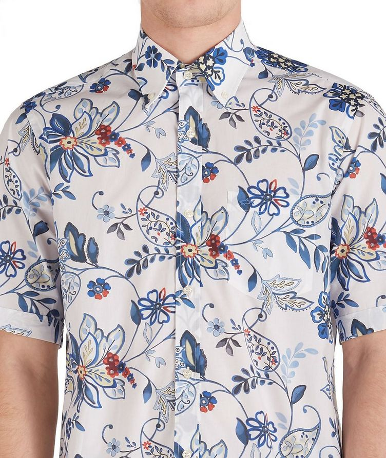 Short-Sleeve Botanical Cotton Shirt image 2