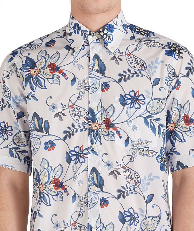Short-Sleeve Botanical Cotton Shirt picture 3