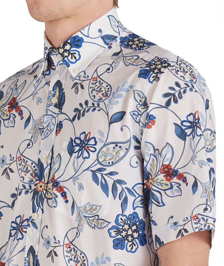 Short-Sleeve Botanical Cotton Shirt image 3