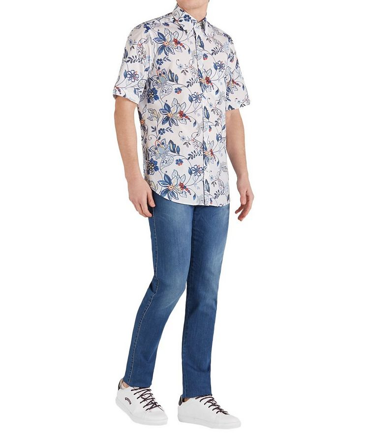 Short-Sleeve Botanical Cotton Shirt image 4