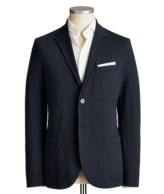 Harris Wharf London Unstructured Coolmax Seersucker Sports Jacket