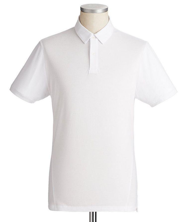 Stretch-Cotton Piqué Polo image 0
